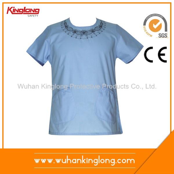Elastic string design workwear medical scrub