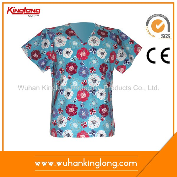 Hospital workwear Printed top