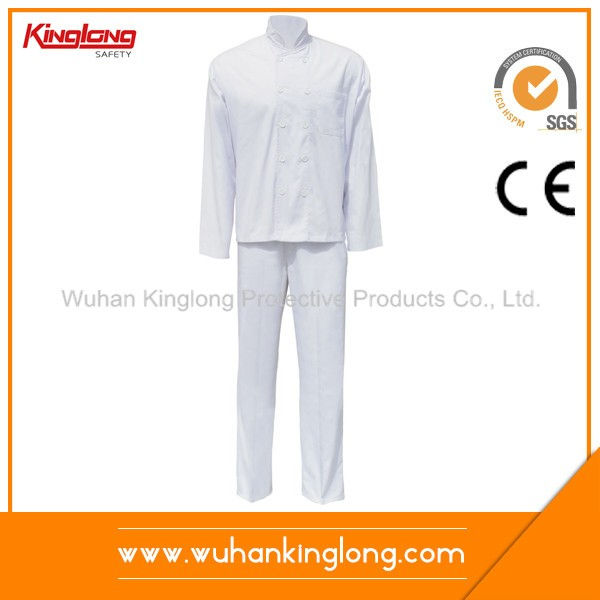 Long Sleeve Solid Color Chef Uniform