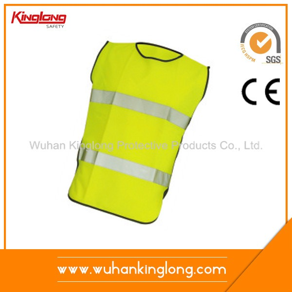 Fluorescent Green Knitting Security Waistcoat