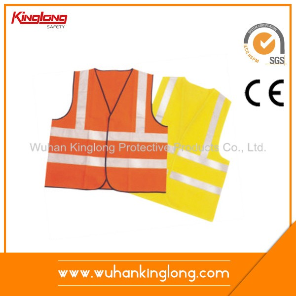 Wholesale Fluorescent Orange Safety Waistcoat