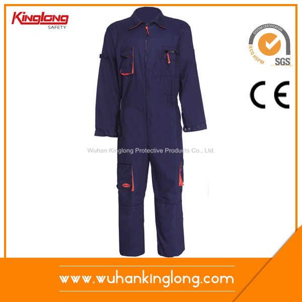 High quality blue color power coveralls