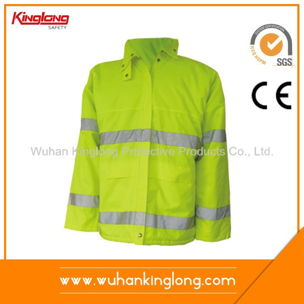 High Visibility Reflective Tape Winter Jacket