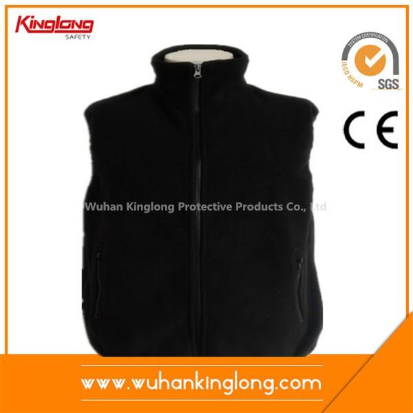 Cheap price zipper pocket polar fleecy vest