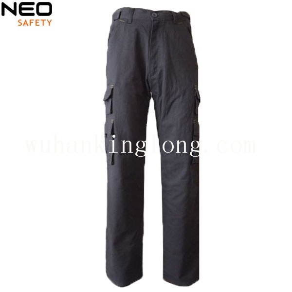 100% cotton cargo pants with multi pocket for men