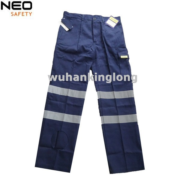 100%Cotton Drill Mens Reflective Cargo Pants