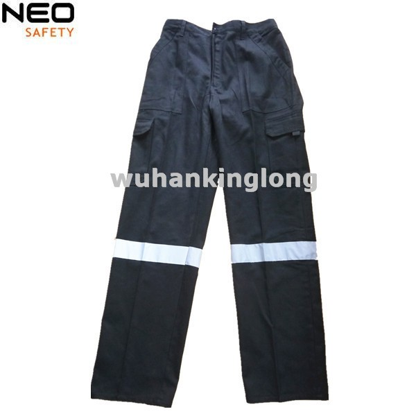 100%Cotton Drill Mens Reflective Cargo Trousers