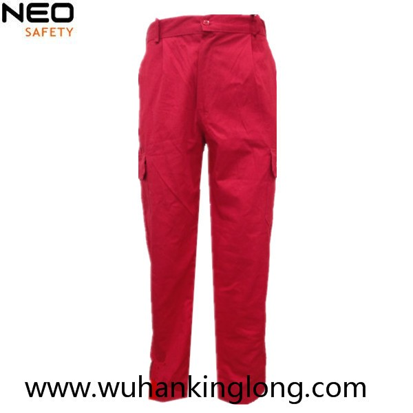 100%cotton twill red workers cargo pants