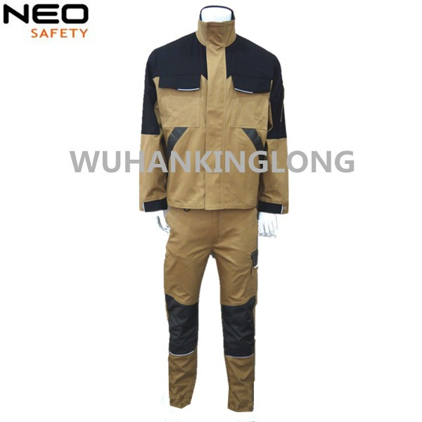 2pcs Stretch Slim Work Jacket and Pants