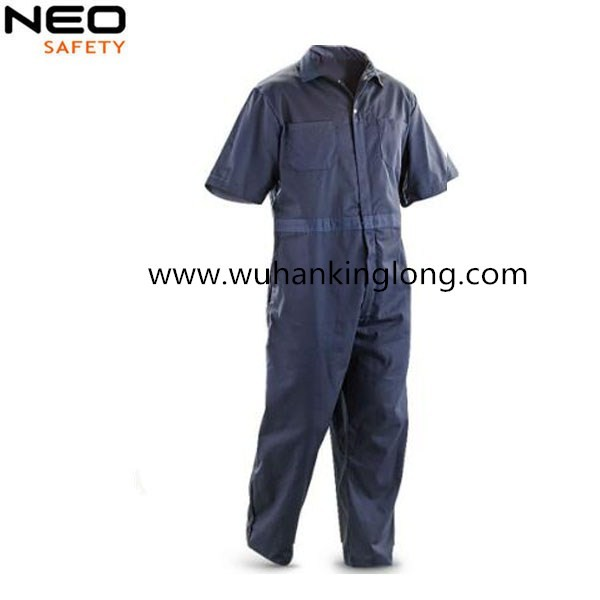 All Blue Mens Twill Work Coverall Safety Coat Trousers