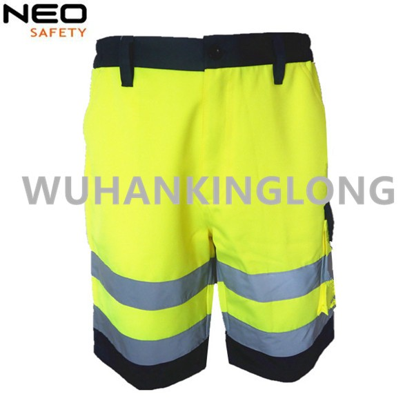 HIVI Yellow Work Cargo Shorts