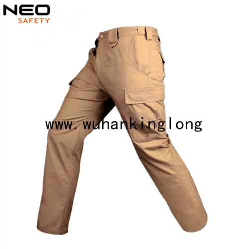 Man workwear khaki pants work cargo pants
