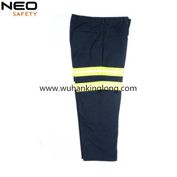 Mens Safety Work wear Trousers Cargo Pant with Hi Vis Tapes