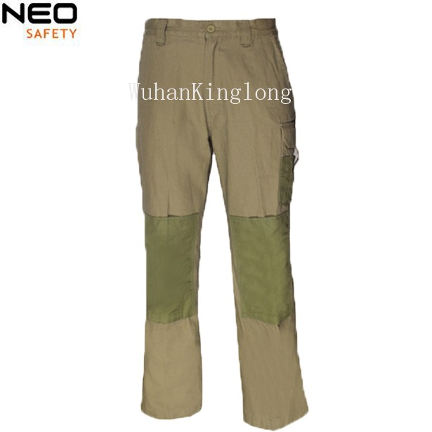 Mens multi Pockets Cargo Pants with Knee Pad