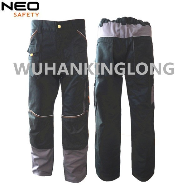 New Hot Model 100 % multi pocket Cotton Cargo Work Pants with Cordura knee patch