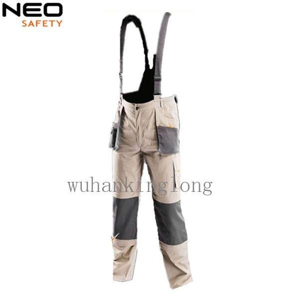 multi-pocket durable knee-pocket work bib pants
