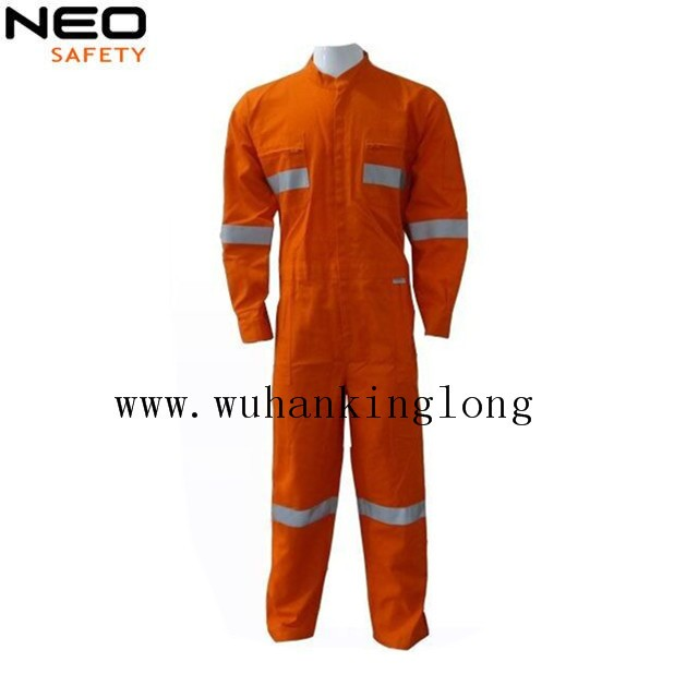 100% Cotton Safety Fireproof Retardant Workwear Coverall with 3M tape