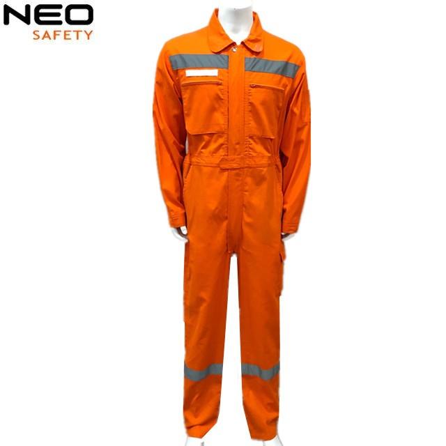100%Cotton Orange Greece Reflective Boiler Suit