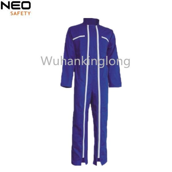 2 Long Zipper Blue Men's working  Coveralls