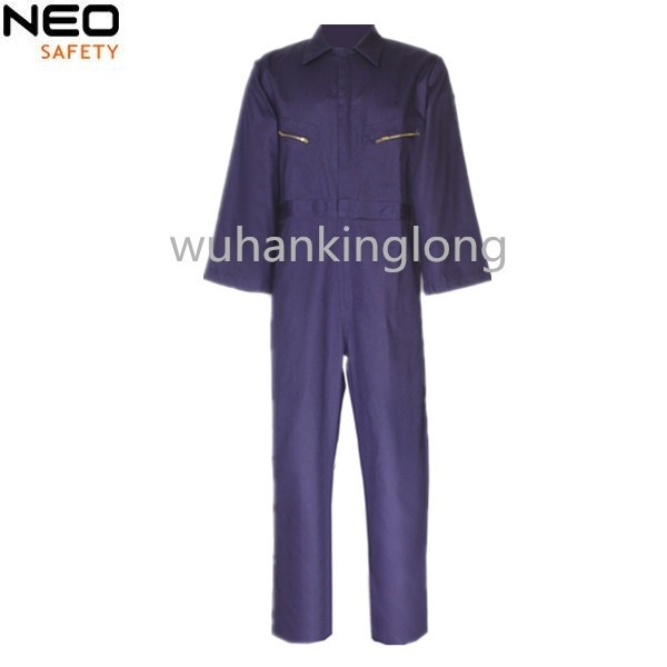 Durable coverall with double zippers work wear uniform unisex