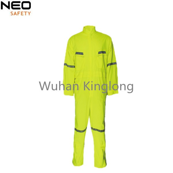 Manufacturer supply top quality  fluo yellow safety coveralls