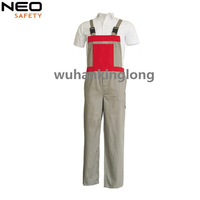 Mens Workwear  Cargo Bib Pants Canvas Trouser