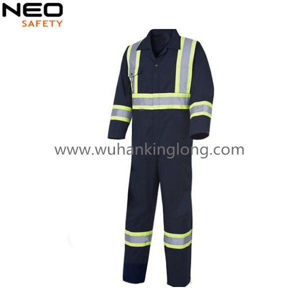 Mens workwear Working Safety Coverall with reflective tape