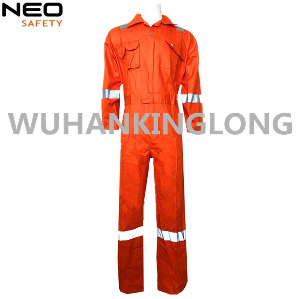 Orange FR Fire Resistant Coverall with Reflective Tape