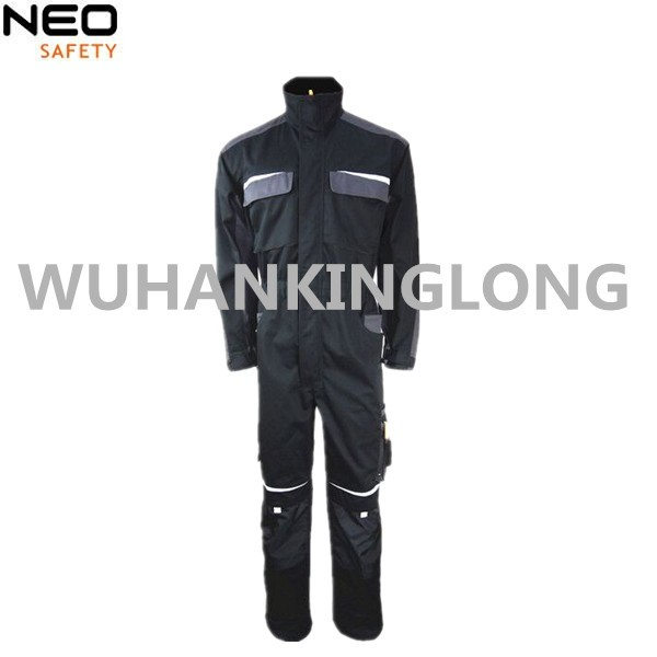 Polycotton Black  Coverall For Men
