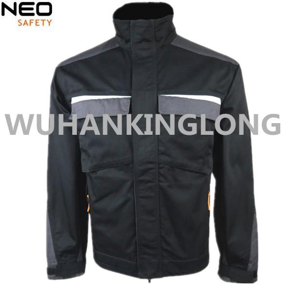 Polycotton Black  Jacket For Men