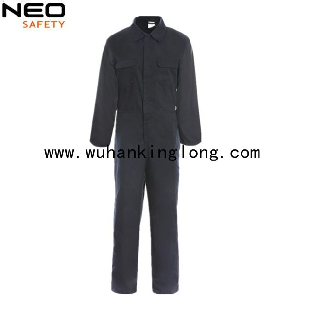 Polycotton cheap price work wear coveralls with navy blue color