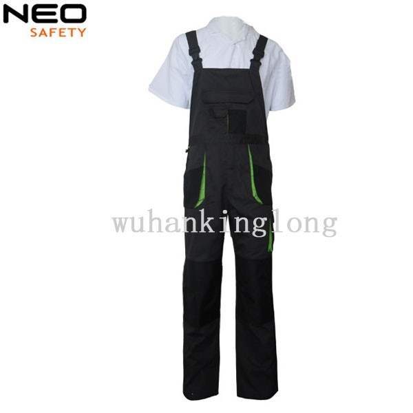 multi-pocket durable knee-pocket work bib pants