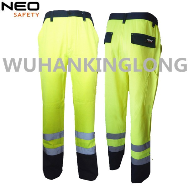 Men's working pants workwear with reflective tapes