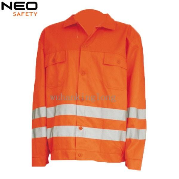 Men's reflective tape workwear working jacket