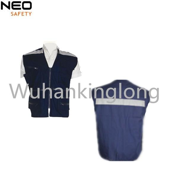 Men Reflective Cargo Workwear Safety vest