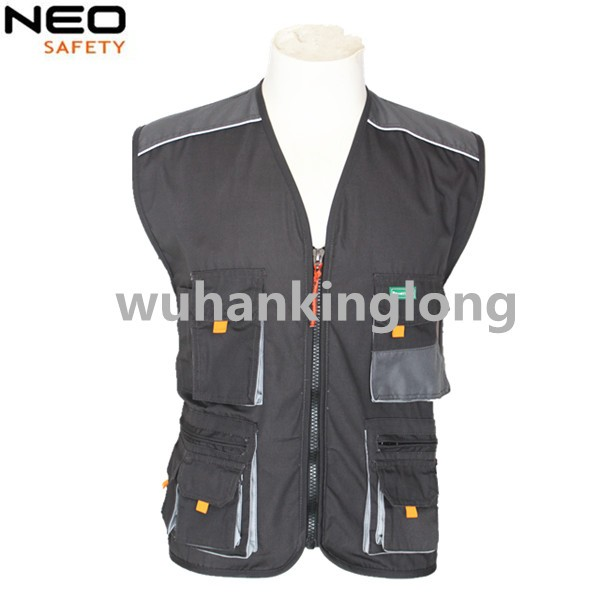 high quality mens multi pockets work vest