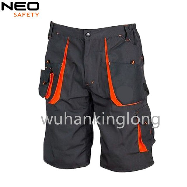 Construction shorts for men's with Multi pockets canvas uniform