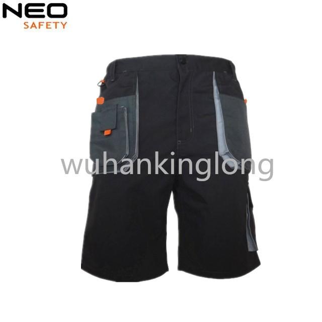 Construction shorts summer pants Multi pockets canvas uniform