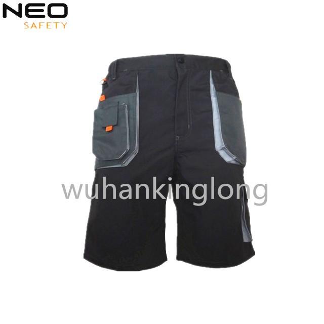 Construction site shorts for men's with Multi pockets canvas uniform