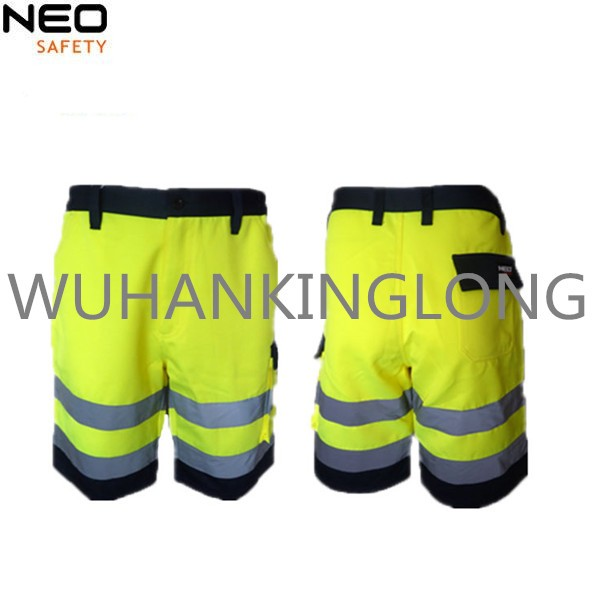 Hivis yellow safety short for men made in china