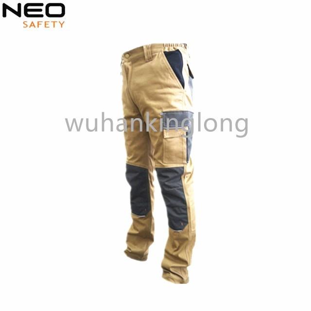 Khaki Spandex Cargo Pants with Multi Pocket