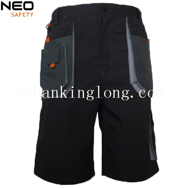 Men's workwear T/C canvas cargo shorts with reinforced oxford patch