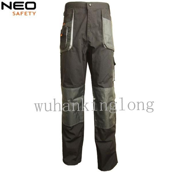Multi pocket men work trousers canvas cargo pants