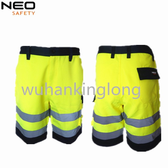 New style Hivis yellow safety short for men made in china