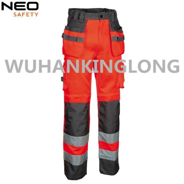 100%Cotton Two Tone Fluorescent Cargo Pants