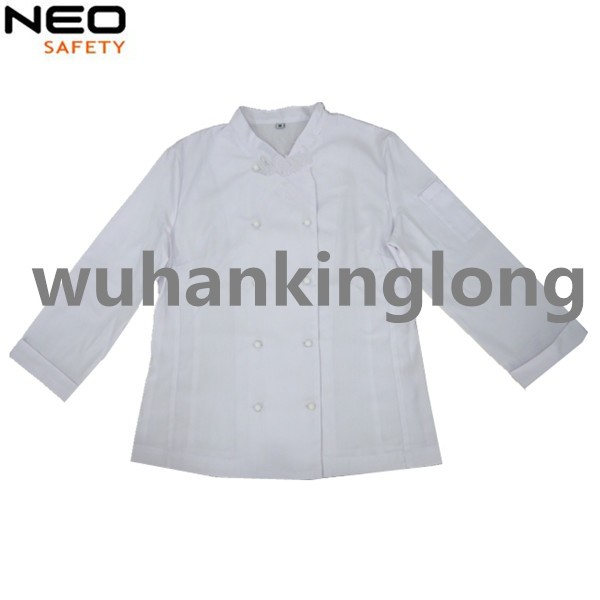 100%cotton twill restaurant hotel white chef coat
