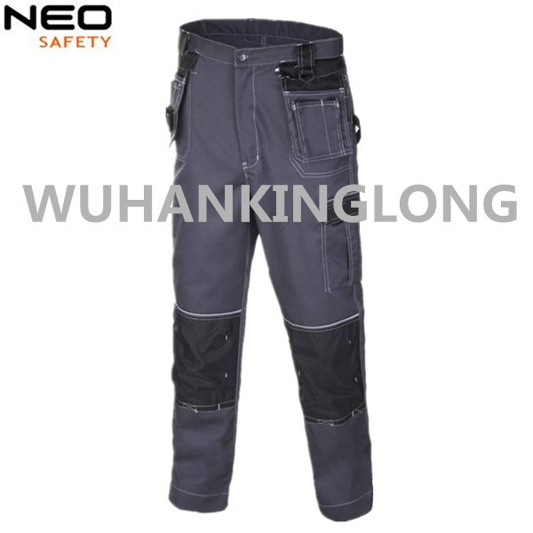 280GSM Black Working Cargo Pants with Detachable Pockets