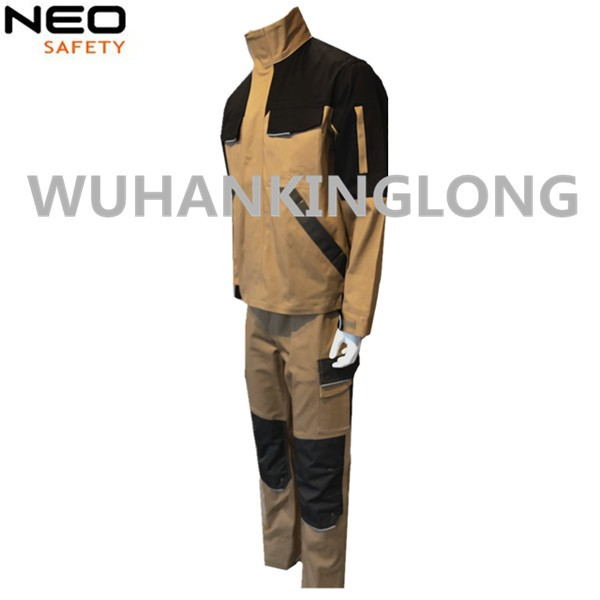 2PCS Spandex Stretch Slim Workwear Jacket and Pants
