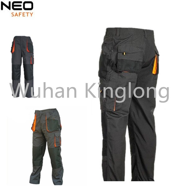 65%polyester 35%cotton canvas cargo working trousers