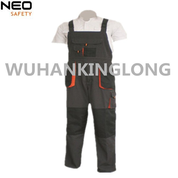 Construction bibpants with one chest pocket for men